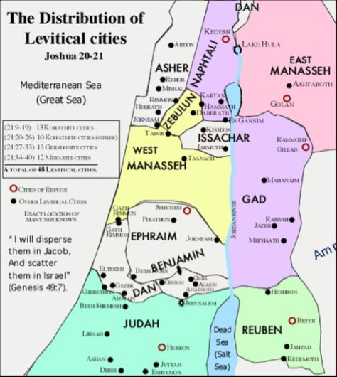 Image result for levite cities of refuge