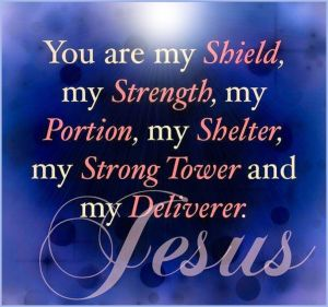Jesus is our shield image