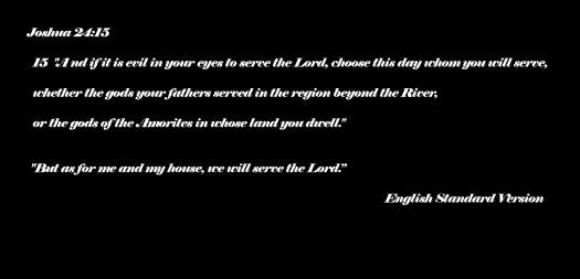 Joshua 24 verse 15